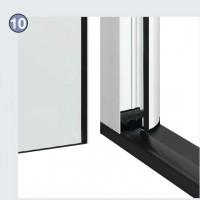 порог с термическим разделением и щеточное уплотнение двери